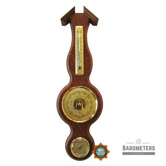 Traditional Walnut and Brass Instrument Weatherstation  6690-12