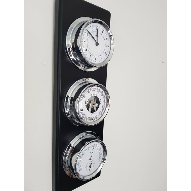 Modern Black Chrome Weather Station