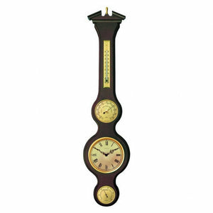 Large Traditional  Weatherstation /Clock