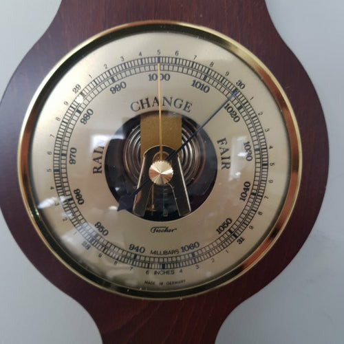 Banjo Mahogany Wooden Weather Station