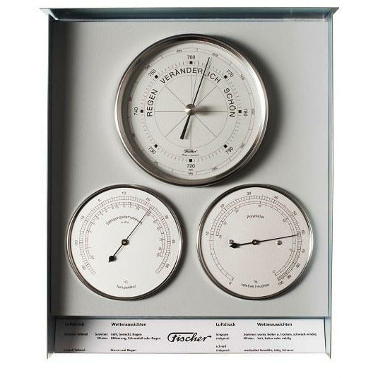 Stainless  Indoor /Outdoor Barometer Weather Station