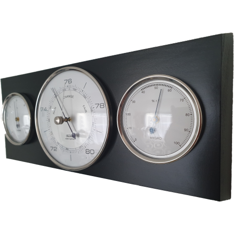 Modern Ebony Barometer Weather Station