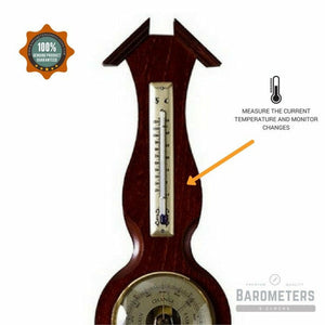 Classic Banjo Wooden Weather Station 6690-22