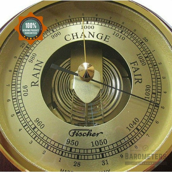 Fischer Barometer Pascal 1436r 22 Mahogany And Brass