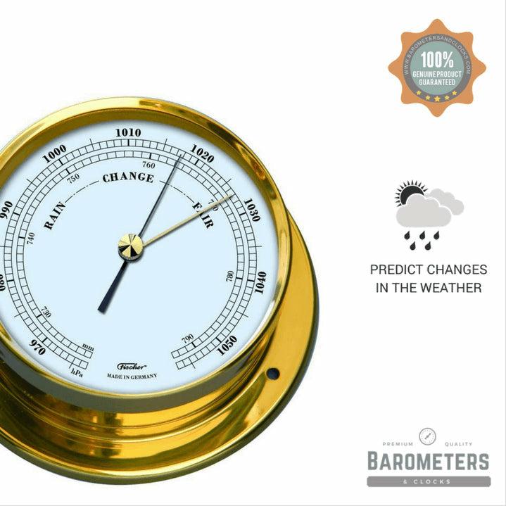 Brass Nautical Barometer Navigator