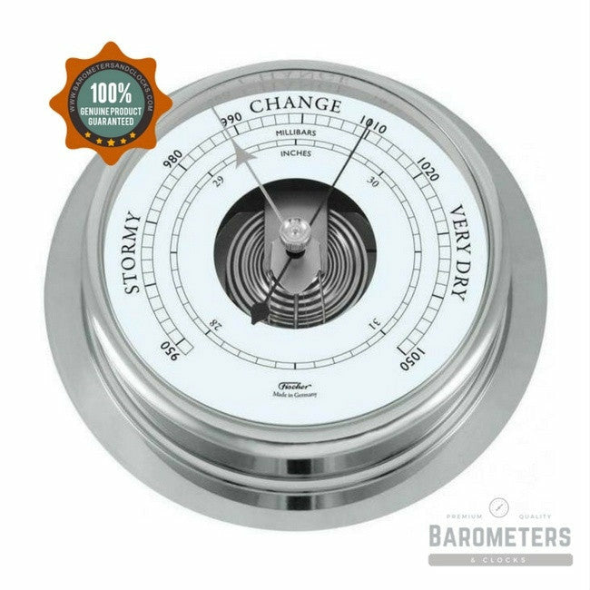 Fischer large Chrome Barometer 200mm