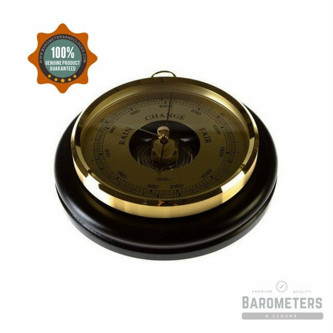 Medium Wood & Brass Barometer