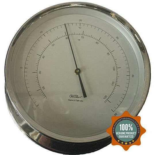 Nautical Chrome Thermometer Navigator