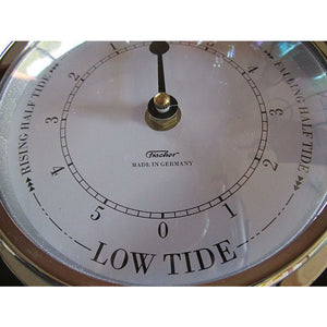 Fischer Tide Clock  Black & Chrome