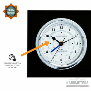 Barometer & Tide Clock Combination