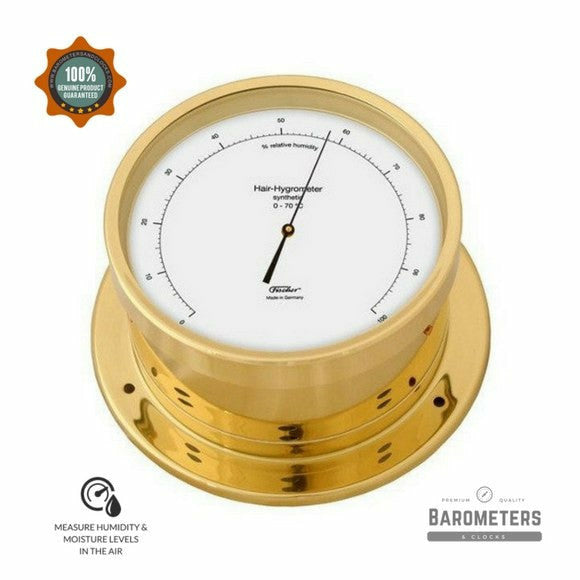 Nautical Brass Hygrometer Navigator