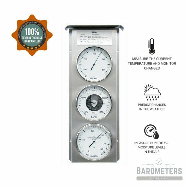Stainless Steel Modern Weather Station by Fischer 803-01