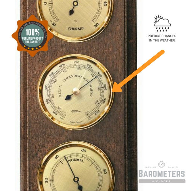 Stylish Wall Mounted Weather Station Barometers Amp Clocks