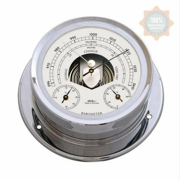Chrome Fischer Weatherstation with Barometer/Temperture/Hygrometer 1600BTH-47