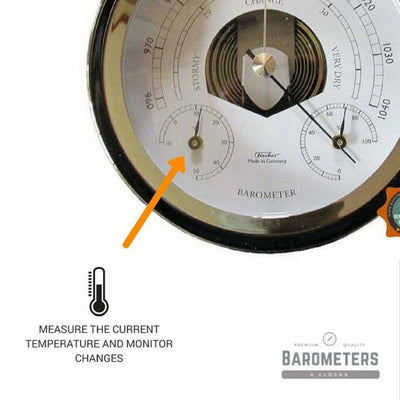 Nautical Chrome Barometer Weatherstation