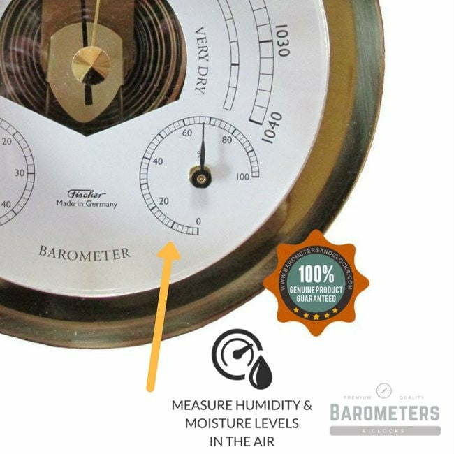 Nautical Brass Barometer Weatherstation