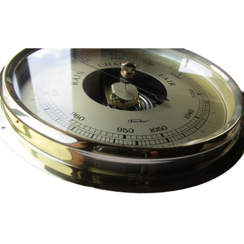 large brass barometer 160mm