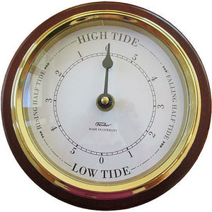 Wall round tide clock mahogany