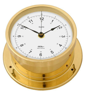 Precision Nautical Fischer Brass Clock Navigator