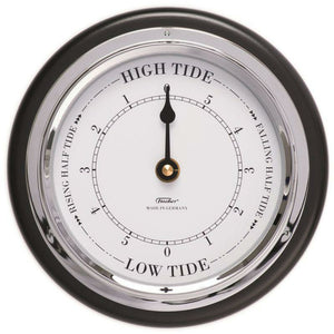Tide Clock  Black & Chrome