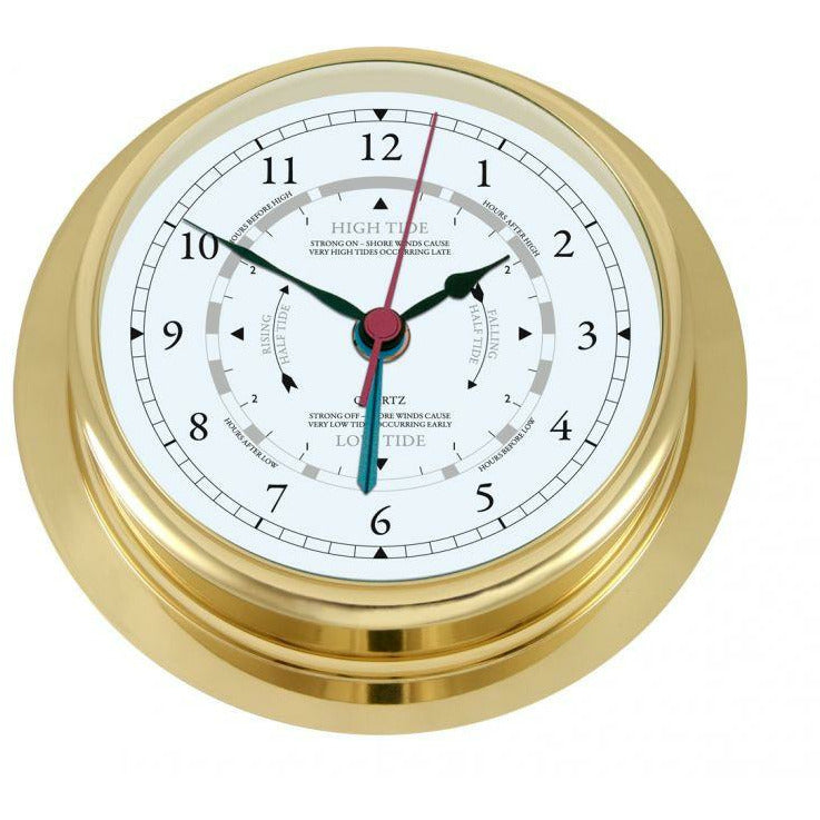Large Brass Tide Clock
