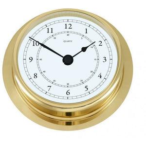 Fischer  Brass Clock 200mm