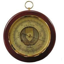 Mahogany & Brass Fischer wall mounted Barometer