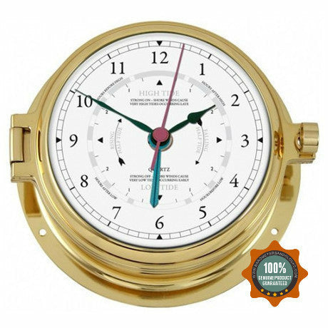 Nautical Brass Tide Clock