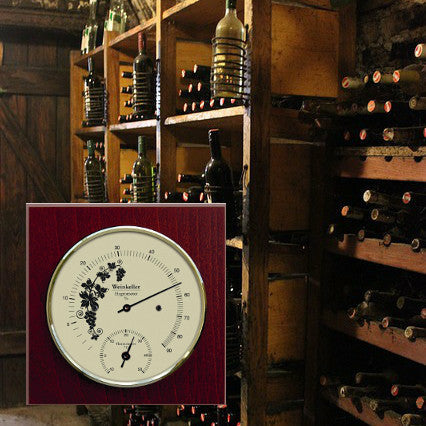 Wine Cellar Hygrometer & Thermometer made by Fischer Germany 1225HT-22