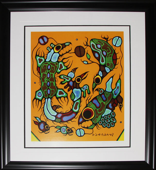 Animal Spirits Limited Edition /950 Native Indian Heritage Art Print by Norval Morrisseau