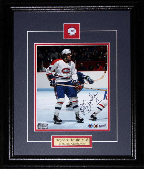Rejean Houle Montreal Canadiens Signed 8x10 NHL Hockey Collector Frame