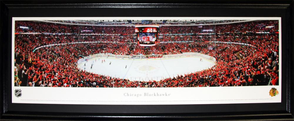 Chicago Blackhawks United Center Panorama NHL Hockey Memorabilia Collector Frame