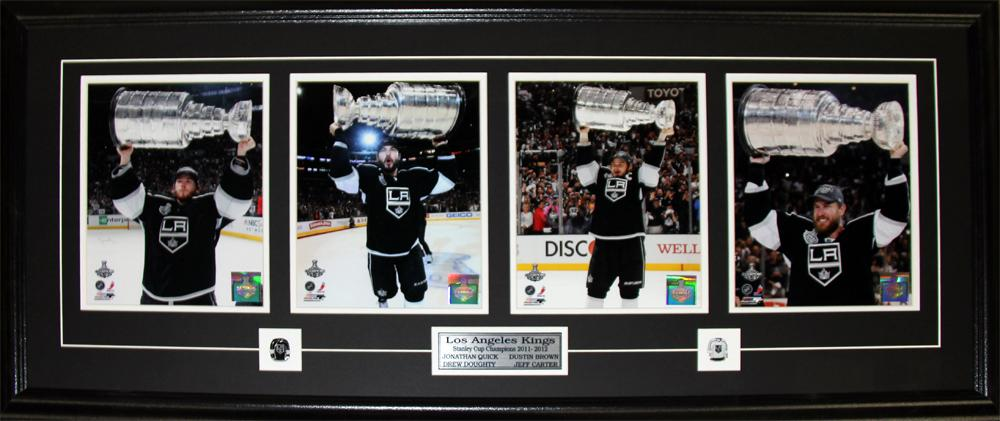 2012 Los Angeles Kings Stanley Cup 4 Photograph NHL Hockey Collector Frame