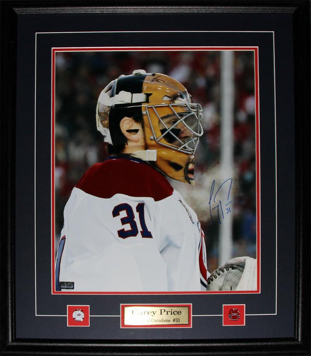Carey Price Montreal Canadiens Signed 16x20 NHL Hockey Collector Frame