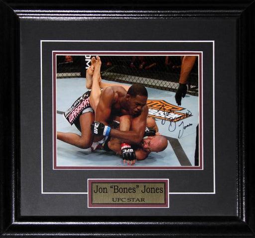 Jon Jones UFC MMA Mixed Martial Arts Signed 8x10 Memorabilia Collector Frame