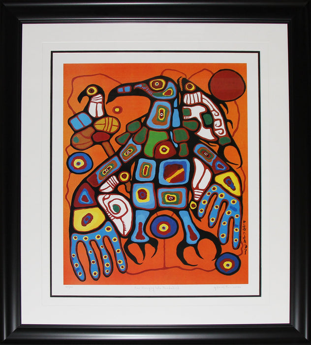 Man Changing Into Thunderbird #6 Limited Edition /950 Native Indian Heritage Art Print by Norval Morrisseau