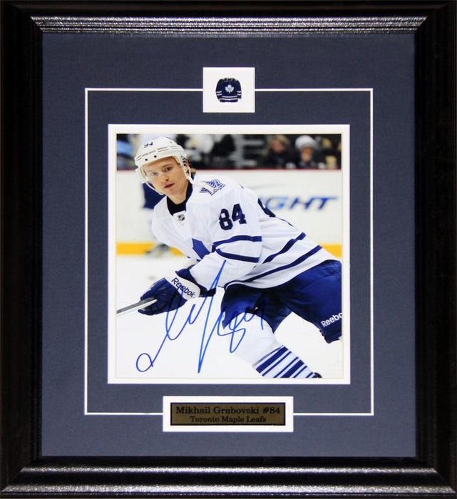 Mikhail Grabovski Toronto Maple Leafs Signed 8x10 NHL Hockey Collector Frame
