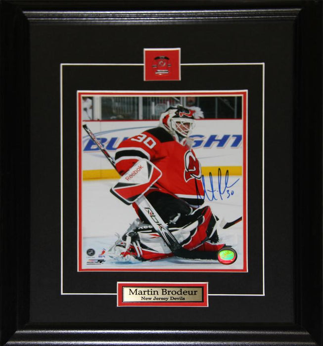 Martin Brodeur New Jersey Devils Signed 8x10 NHL Hockey Collector Frame