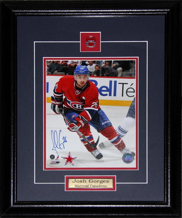 Josh Gorges Montreal Canadiens Signed 8x10 NHL Hockey Collector Frame