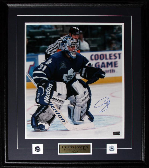 Curtis Joseph Toronto Maple Leafs Signed 16x20 NHL Hockey Collector Frame