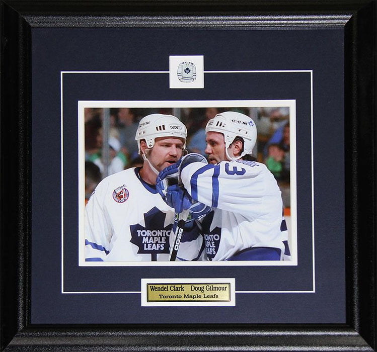 Doug Gilmour & Wendel Clark Toronto Maple Leafs 8x10 NHL Hockey Collector Frame