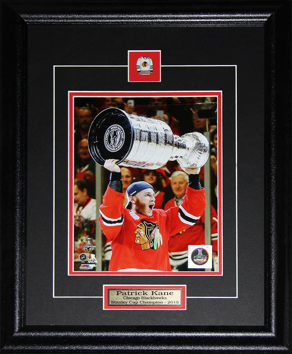 Patrick Kane Chicago Blackhawks 2015 Stanley Cup 8x10 NHL Hockey Collector Frame