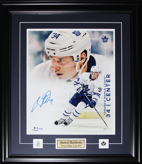 Auston Matthews Toronto Maple Leafs Signed 16x20 collage NHL Hockey Frame