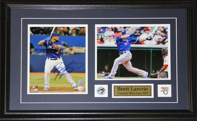 Brett Lawrie Toronto Blue Jays Signed 2 Photo MLB Baseball Collector Frame