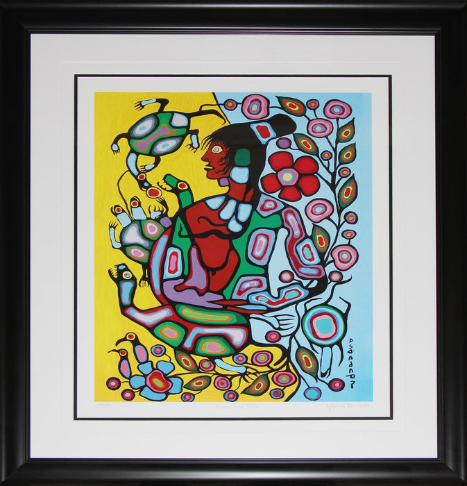 Shaman And Turtle Limited Edition /950 Native Indian Heritage Art Print by Norval Morrisseau
