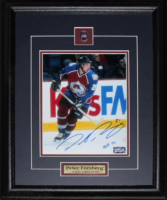 Peter Forsberg Colorado Avalanche Signed 16x20 NHL Hockey Collector Frame