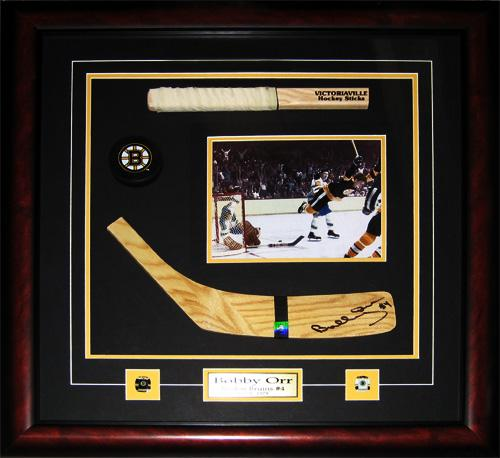 Bobby Orr Boston Bruins Signed Blade 8x10 Stick NHL Hockey Collector Frame