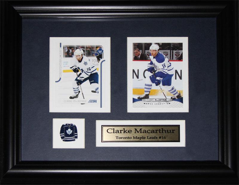 Clarke MacArthur Toronto Maple Leafs 2 Card NHL Hockey Collector Frame