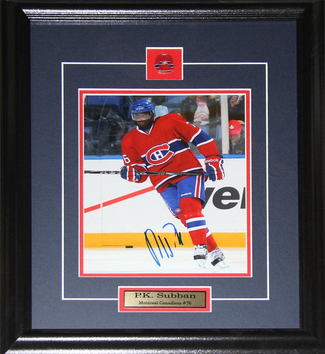 PK Subban Montreal Canadiens Signed 8x10 NHL Hockey Memorabilia Collector Frame