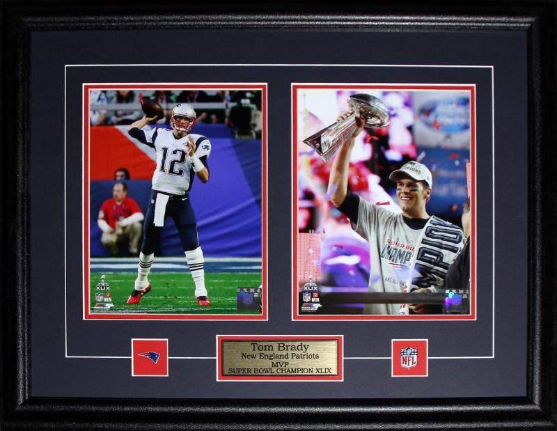 Tom Brady New England Patriots Superbowl XLIX MVP 2 Photo NFL Football Frame